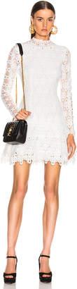 Jonathan Simkhai Guipure Long Sleeve Mini Dress in White | FWRD