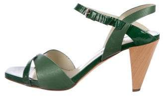 Studio Pollini Two-Tone Leather Sandals