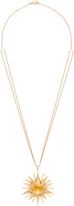 Renee Lewis 18K Gold Citrine And Diamond Necklace