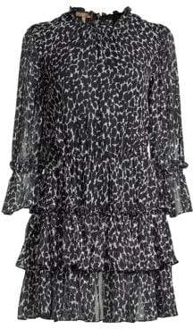 Michael Kors Leopard Silk Mini Dress