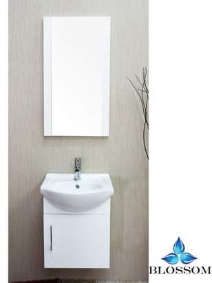 """Bay Isle Home Conrad 18"""" Single Bathroom Vanity Set with Mirror Base"""
