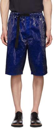 Dries Van Noten Blue Piene Shorts