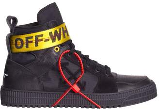 Off-White Off White Black Leather Industrial High-top Sneakers