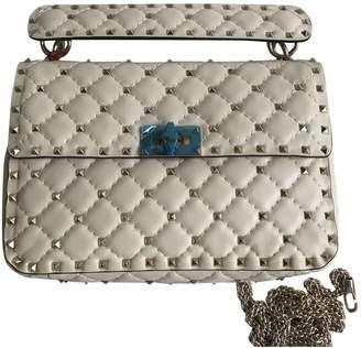 Valentino Rockstud spike Yellow Leather Handbag