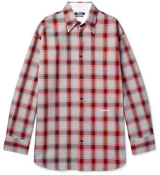 Calvin Klein Oversized Checked Flannel Shirt