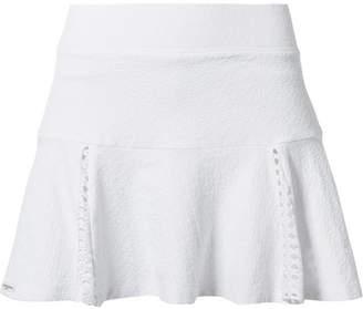 L'Etoile Sport Pointelle-trimmed Stretch-jacquard Tennis Skirt