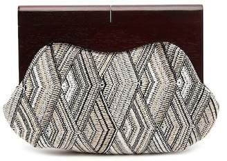 Jessica McClintock Holly Woven Clutch