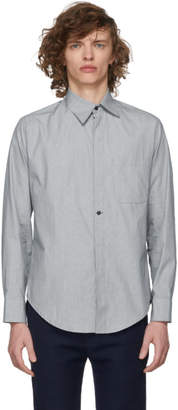 House of the Very Islands Black and White Micro Stripe Shirt