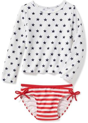 2-Piece July 4th Rashguard Set for Toddler $19.94 thestylecure.com
