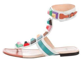 Fendi Stud Colorblock Sandals
