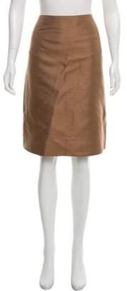 Akris Woven Knee-Length Skirt