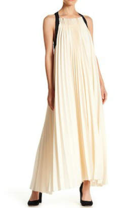 Gracia Pleated Halter Dress