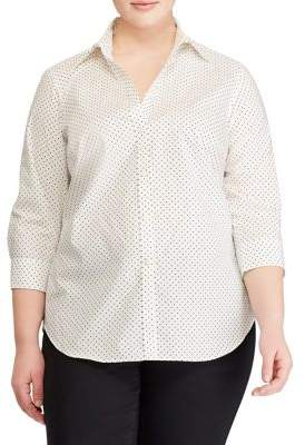 Lauren Ralph Lauren Plus Non-Iron Cotton Shirt