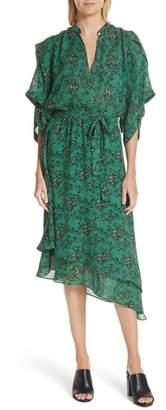 Robert Rodriguez Japanese Floral Midi Dress