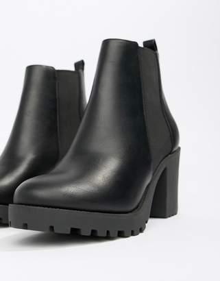 Faith Baker chunky heeled chelsea boots in black