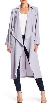 Lush Drapey Open Trench Coat