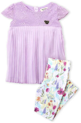 Juicy Couture Girls 4-6x) Two-Piece Pleated Chiffon Dress & Floral Leggings Set
