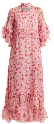 Dodo Bar Or - Rossano Floral Print Chiffon Dress - Womens - Pink Multi