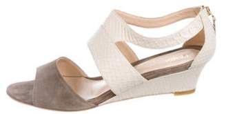 Fendi Suede Ankle Strap Sandals White Suede Ankle Strap Sandals