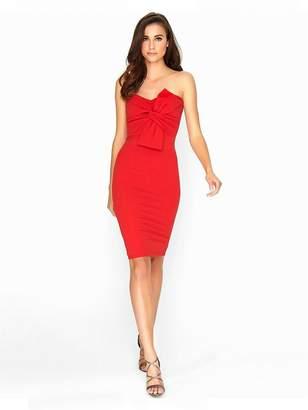 Girls On Film Red Boobtube Dress