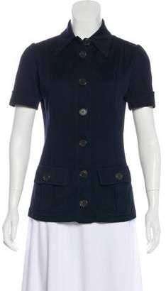 Derek Lam Heavy Knit Button-Up Top