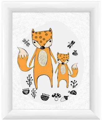 """PTM Images Small Fox Family Wall Art - 10\"""" x 12\"""""""