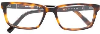 Salvatore Ferragamo tortoiseshell effect eye glasses