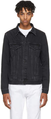 Off-White Black Denim Slim Firetape Jacket