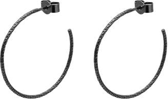 Myia Bonner Black Large Diamond Hoop Earrings