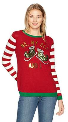 Ugly Christmas Sweater Women's Me My Elf and I Sweater