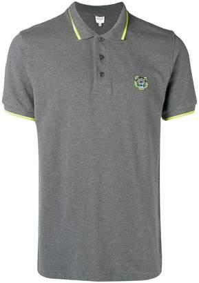 Kenzo contrast trim polo shirt