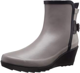 Chooka Women's Colorblocked Wrap Wedge Rain Boot