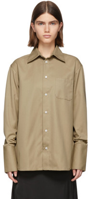 Gauge81 Tan Cape Town Long Sleeve Shirt