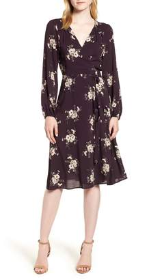 Velvet by Graham & Spencer Floral Wrap Dress