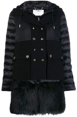 Elisabetta Franchi faux fur trimmed coat