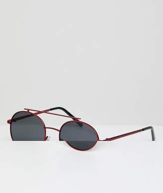 A. J. Morgan AJ Morgan Round Sunglasses With Red Lens