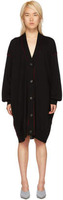Maison Margiela Black Extra Long Cardigan
