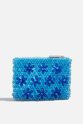 Skinny Dip Womens **Blue Beaded Coin Purse By Skinnydip