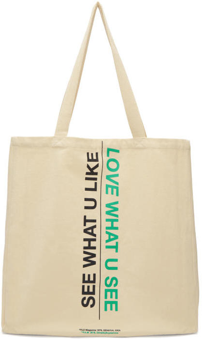 Perks and Mini Ecru Nature-Culture Tote Bag