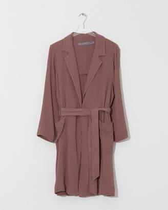 Raquel Allegra Terracotta Short Trench Coat