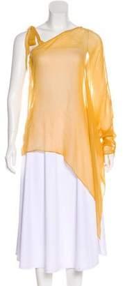 Silvia Tcherassi Sheer Silk One-Shoulder Top