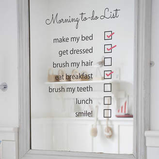 Nutmeg Wall Stickers 'Morning To Do List' Mirror Sticker