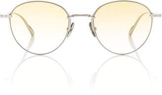 Mulholland Mr. Leight 52 Round-Frame Titanium Sunglasses