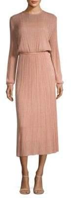 M Missoni Lurex Plisse Midi Dress