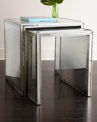 John-Richard Collection John Richard Collection Eglomise Nesting Side Tables