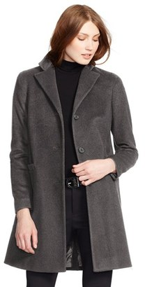 Women's Lauren Ralph Lauren Wool Blend Reefer Coat $220 thestylecure.com