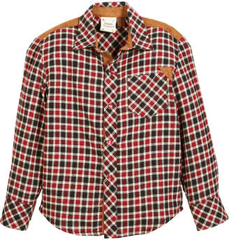 STUDY Fore Hall Plaid Flannel Shirt, Size 2-8