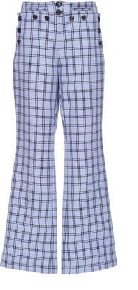Marni Plaid Virgin Wool Flared Trousers