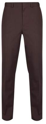 Mens Burgundy Skinny Fit Stretch Trousers