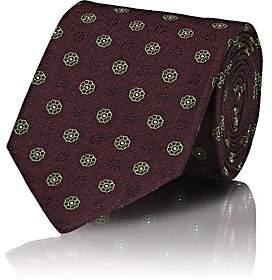 Isaia Men's Floral Silk Jacquard Necktie - Red